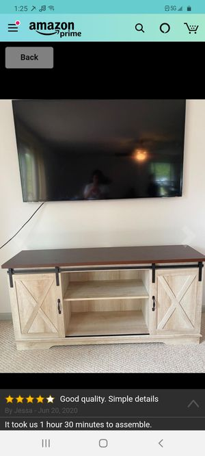 58-60 Inch TV Stand Like New for Sale in South Bend, IN