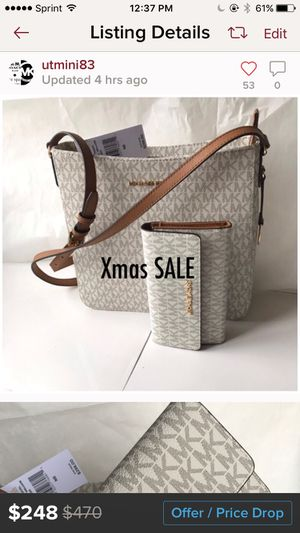 Michael kors messenger crossbody bag and wallet set for Sale in Thornton, CO