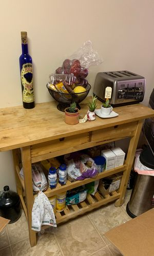 Kitchen portable table with two drawers for Sale in San Leandro, CA