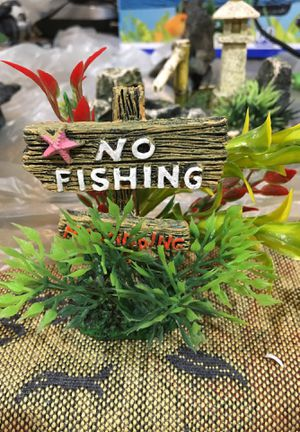 No fishing Fish tank decoration for Sale in Happy Valley, OR