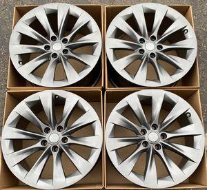"20"" Tesla Model x factory wheels rims gunmetal gray new sensors for Sale in Costa Mesa, CA"