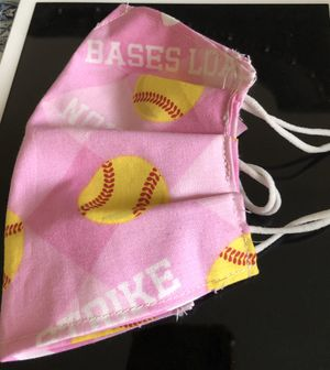 Kids pink softball print cloth face mask for Sale in Merion Station, PA