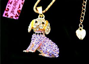 Beautiful! Betsey Johnson Crystal Puppy Charm w/Free Chain for Sale in Salisbury, NC