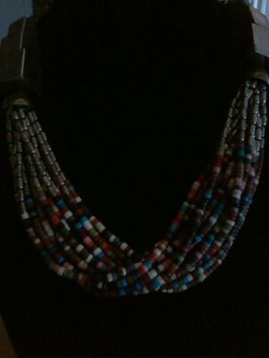 Boheimian necklace silver precious stones beads for Sale in Avondale, AZ