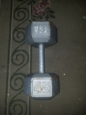 Single 45 lb dumbbell for Sale in Tinley Park, IL