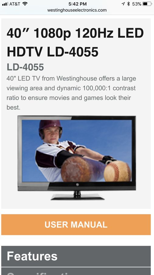 40 inch LED 1080p hd tv for Sale in Indianapolis, IN - OfferUp