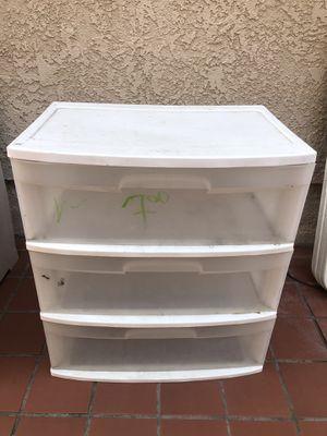 Large 3 Drawer Plastic Storage Organizer for Sale in Irvine, CA