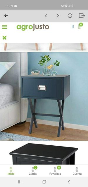 Bedside Table With a Drawer Bedroom Modern Night Stand Wood End Side 2PCS for Sale in Parlier, CA
