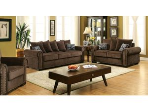 Brown Transitional Sofa + Loveseat for Sale in Fresno, CA