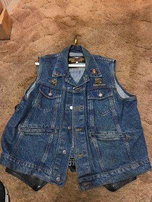 Harley Davidson Levi vest/ jacket cover for Sale in Redmond, WA