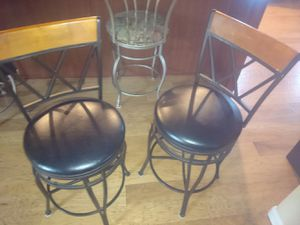 Leather swivel bar stools for Sale in Kent, WA