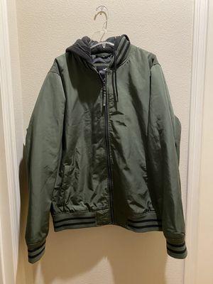 Hollister Men's Hooded Bomber Jacket for Sale in Renton, WA
