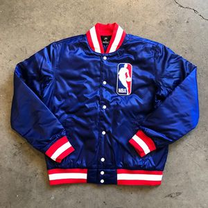 3 BRAND NEW WITH TAGS $120 FOR ALL 3 NBA NIKE SB SATIN VARSITY BOMBER JACKETS 2 WHITE 1 Blue for Sale in Los Angeles, CA
