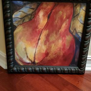 24 Inch Square Oil With Custom Frame for Sale in Orlando, FL