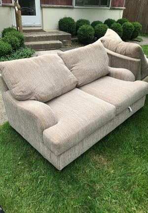 2 large sectional piece couches. Today only... Eastside, Eastmoor/Bexley for Sale in Bexley, OH