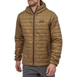 Patagonia Nano Puff Hoodie Jacket - Coriander Brown/Smolder Blue Sealed Unopened Package Size Medium for Sale in Hawthorne,  CA