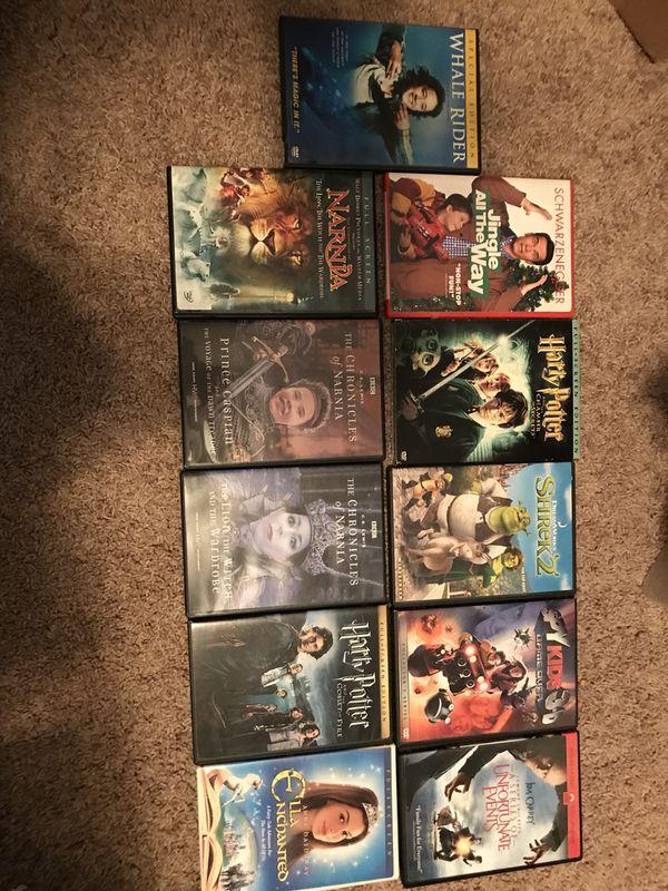 11 Kids favorites DVD's