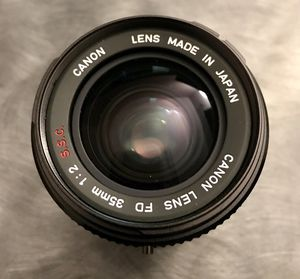 Canon 35mm F/2 SSC Breech Lock FD mount lens and a Fotodiox Pro FD to EOS adapter for Sale in Burbank, CA
