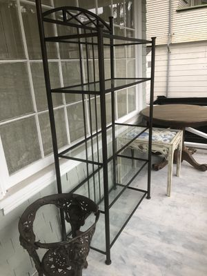 Bakers Rack - Bronze and Glass - well constructed for Sale in Vallejo, CA