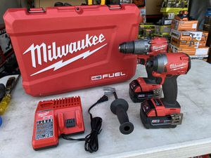 Milwaukee M18 Fuel 2 Tool Combo Kit with 2 Batteries & Charger for Sale in Ontario, CA