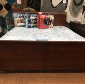 Brand New King Size Cherry Wood Sleigh Bed Frame ONLY for Sale in Silver Spring, MD