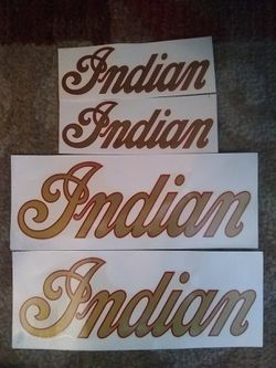 INDIAN DECALS FOR GAS TANK AND MOTORCYCLE for Sale in Seattle,  WA