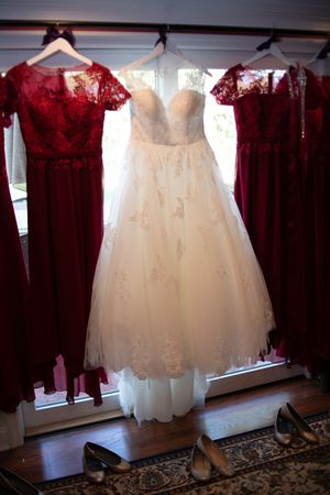 Wedding dress, belt, lace jacket and cathedral veil for Sale in Cleveland, OH