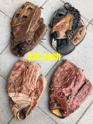 Softball gloves $25 each FIRM PRICE! Or take all 4 gloves for $90 for Sale in Los Angeles, CA