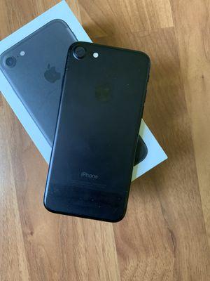 Unlocked iPhone 7 128gb - Matt black for Sale in Marlboro Township, NJ