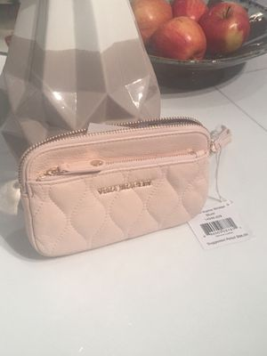 Quilted Sophie Wristlet Blush Genuine Leather for Sale in Miami, FL