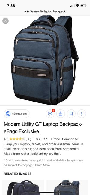Samsonite Utility GT Laptop Backpack for Sale in San Antonio, TX