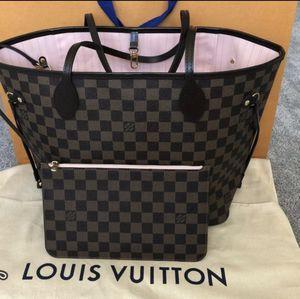 Louis Vuitton Neverfull Damier Ebene MM Rose Ballerine with dust bag for Sale in Brea, CA