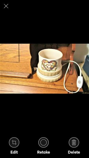 Decorative Electric Jar Candle Warmer with Hearts for Sale in Lynchburg, VA