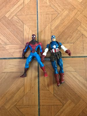 Spider man and Captain America for Sale in San Bernardino, CA