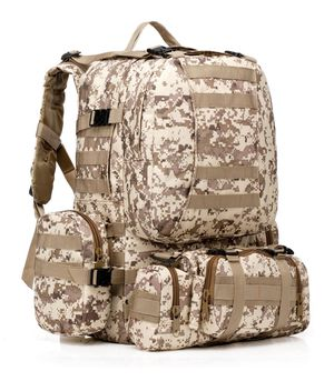 Tactical backpack, with 3 detachment for Sale in Carson, CA