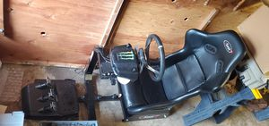 Race simulator rseat with logitech g29 wheel for Sale in Beaverton, OR
