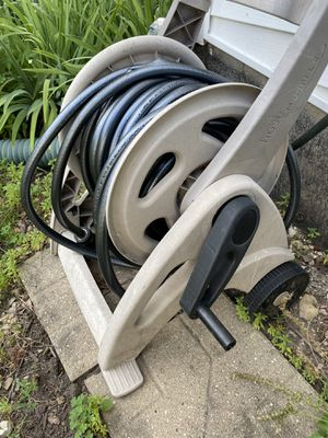 Garden Hose Reel with 100-ft Metallic Gray Garden Hose for Sale in Hawthorn Woods, IL