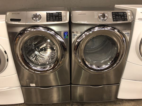 SAMSUNG XL CAPACITY WASHER DRYER ELECTRIC SET 100 DAYS WARRANTY FREE DELIVERY