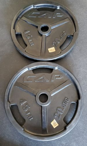 OLYMPIC WEIGHT PLATES RUBBER COATED for Sale in Riverside, CA