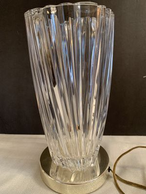 Antique art deco lead crystal table lamp for Sale in Eagan, MN