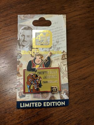 Disney limited edition pin of 1500 pin number 8 of 12-40 years Country Bear Jamboree frontierland for Sale in Glendale, AZ