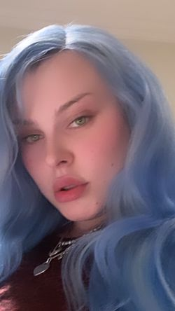 Custom Colored Blue Real Human Hair Lace Front Wig for Sale in Moraga,  CA