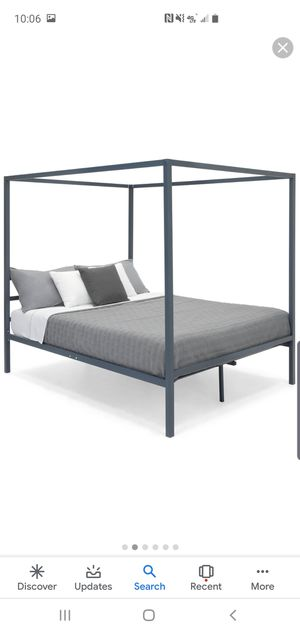 Metal Canopy Queen Bed Frame for Sale in Bethel Acres, OK
