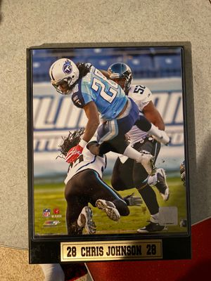 Tennessee Titans Chris Johnson Plaque and Football for Sale in Clarksville, TN