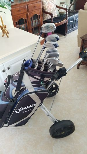 Callaway golf bag with John Daly clubs for Sale in Vero Beach, FL