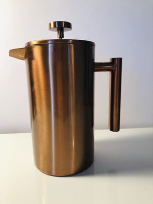 8 Cup Copper Rose Gold Coffee Maker French Press Stainless Steel Rust Proof for Sale in Houston, TX