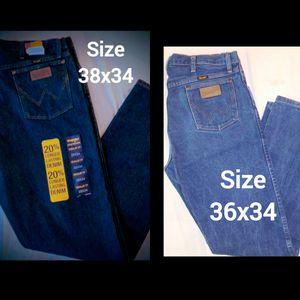 Mens new Wrangler jeans for Sale in Rowlett, TX