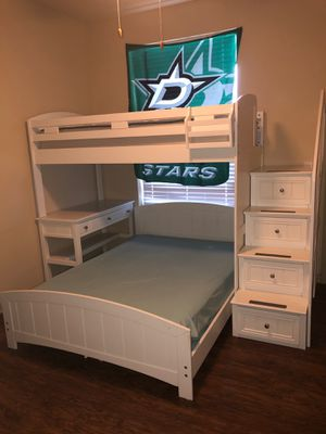 Kids split loft bed with desk for Sale in Burleson, TX