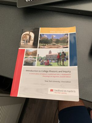 Introduction to college rhetoric and inquiry (Bedford/St.Martins) for Sale in Lubbock, TX