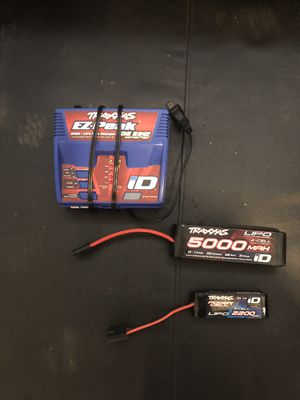 Traxxas ez peak and 2 cell lipo batteries for Sale in Glendale, CA
